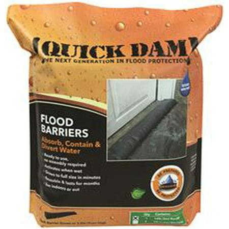 Quick Dam Expanding Flood Barrier, 6 In  X 10 Ft , 1 Per Bag