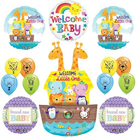 The Ultimate Noahs Ark Jungle Animal Latex Welcome Baby Baby (Noah's Ark Baby Shower Theme)