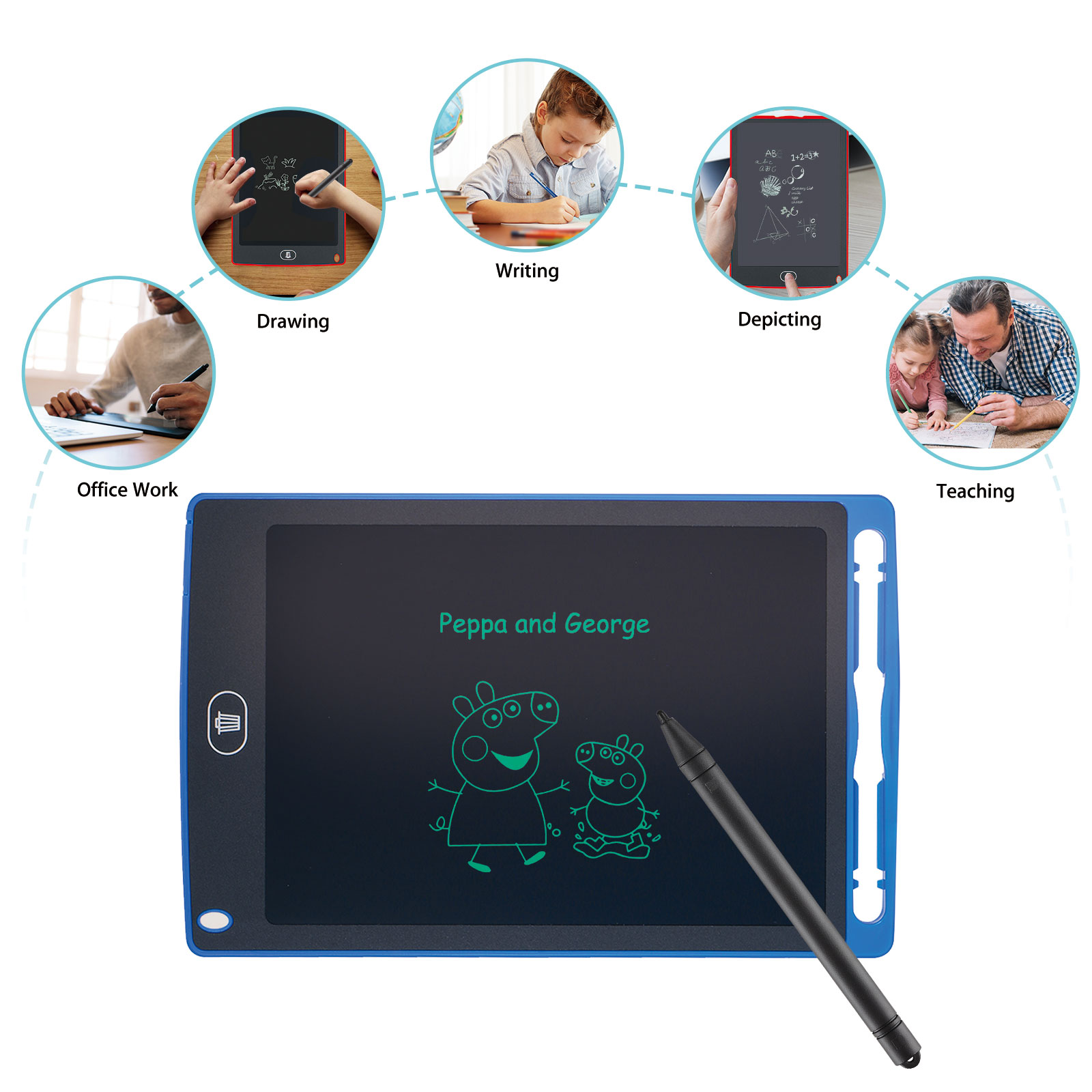 Suines Portable Practical Reusable LCD Writing Drawing Tablet Board Tablets