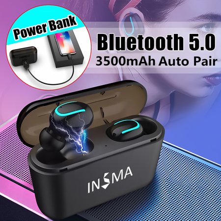 Mini TWS bluetooth 5.0 Earbuds, Sport True Wireless Headphones Bass Twins Stereo In-Ear Earphone for iPhone & Samsung Android Smart