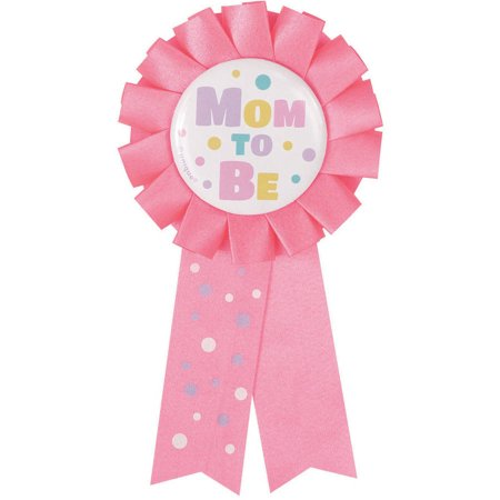 Baby Shower Wearables For Mom (Mom To Be Baby Shower Award Ribbon, 5.5 in, Pink,)