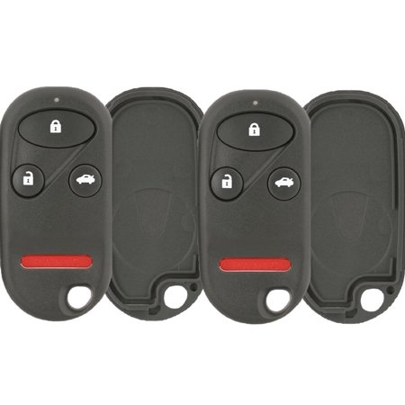 2 PACK KeylessOption Just the Case Keyless Entry Remote Key Fob Shell for 1999-2003 Acura TL & 1998-2002 Honda Accord