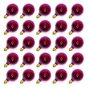 Sival 40126 - G40 Candelabra Screw Base Transparent Purple (25 pack) Christmas Light Bulbs