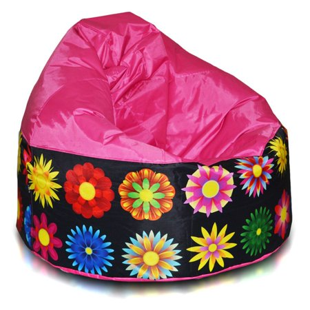 Turbo Beanbags Cake Modern Large Bean Bag Chair Pink Floral