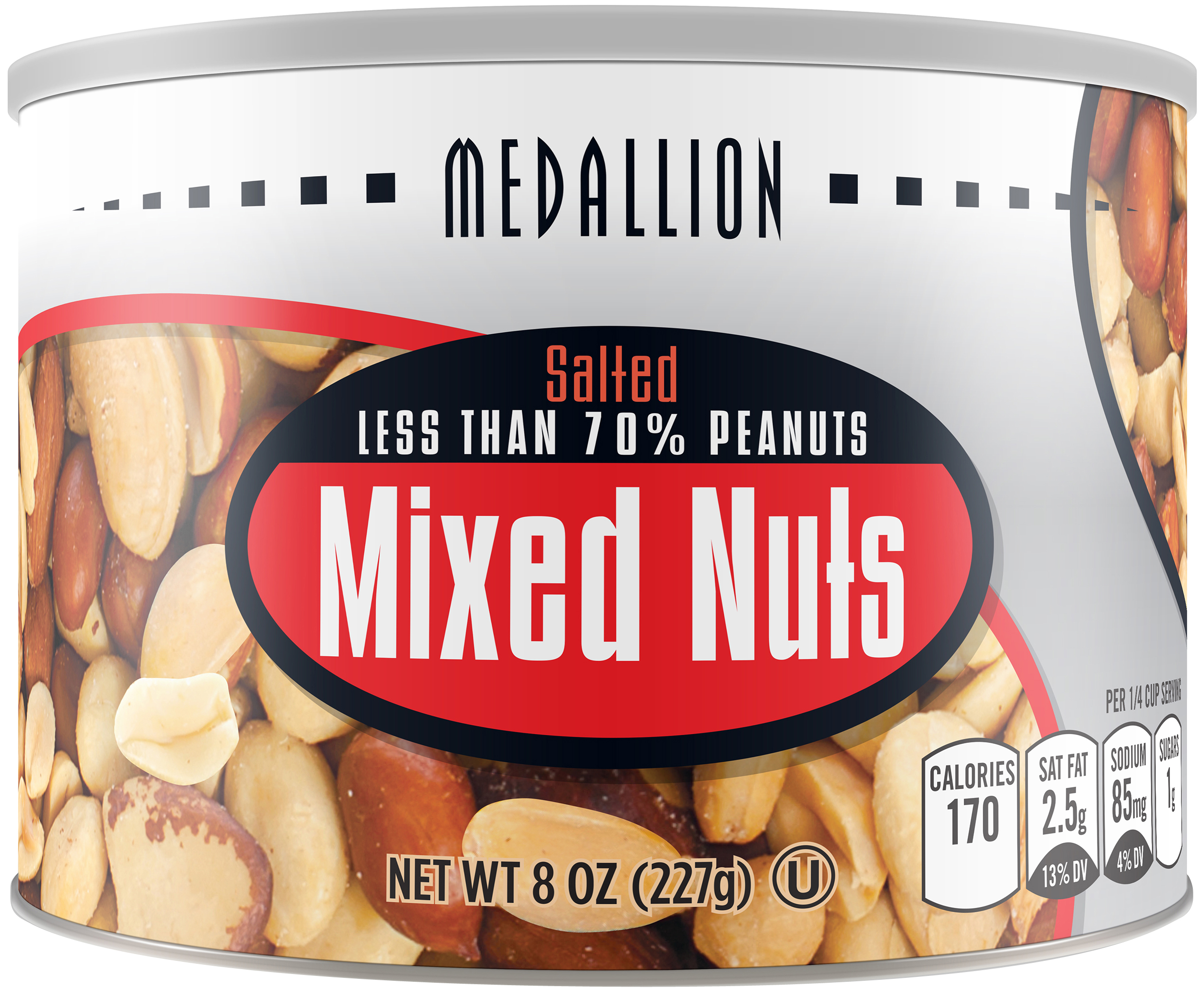Medallion Salted Mixed Nuts, 8 oz by STAR SNACKS CO INC