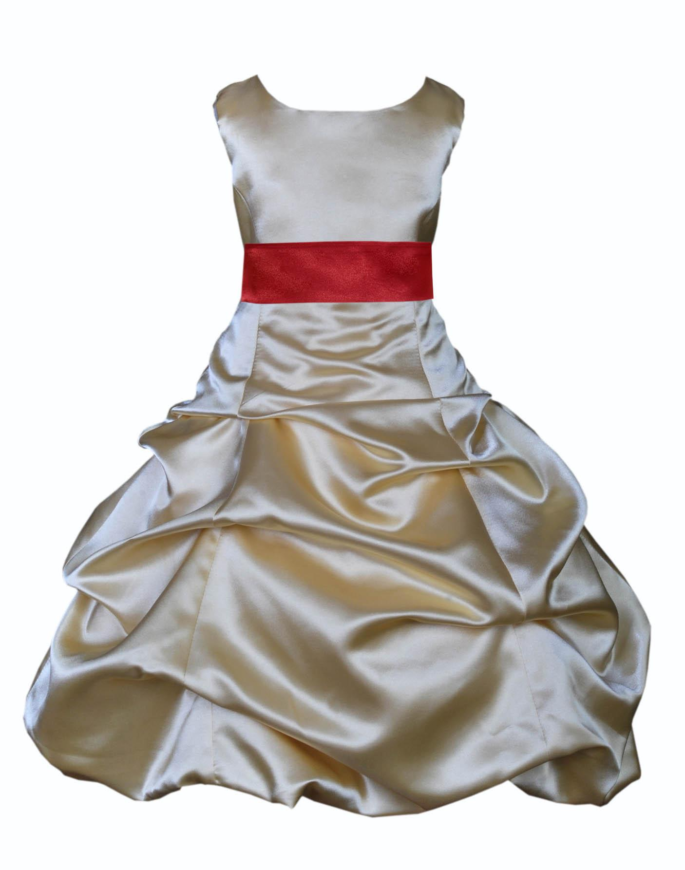 Girl Pageant 1st Communion Bridal Evening Formal dress White Size 2 4 6 8 10 12