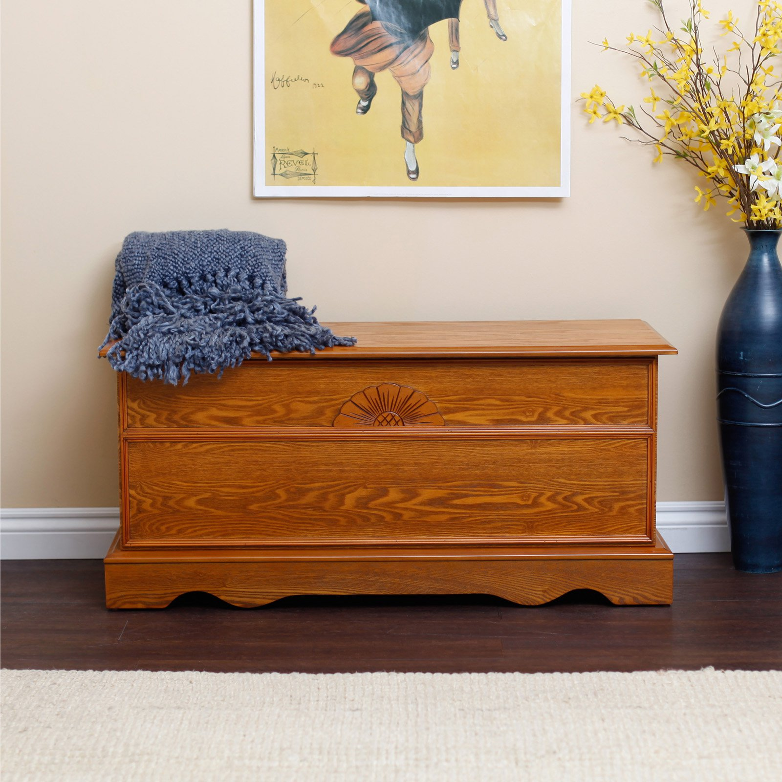 laurel cedar hope chest oak finish - Hope Chests