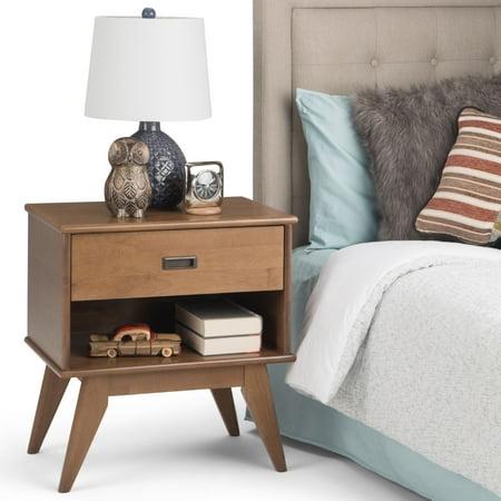 Simpli Home Draper Mid Century Bedside Table
