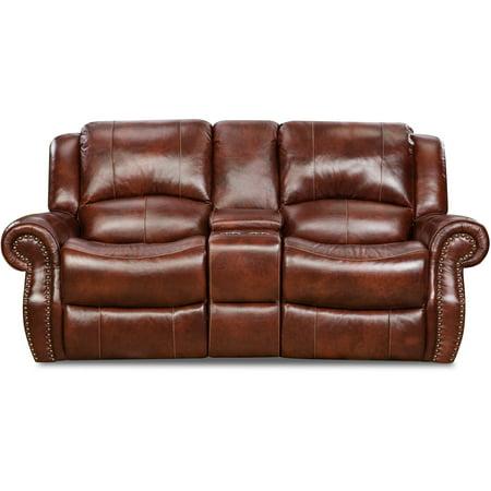 Cambridge Telluride Leather Double Reclining Loveseat in -