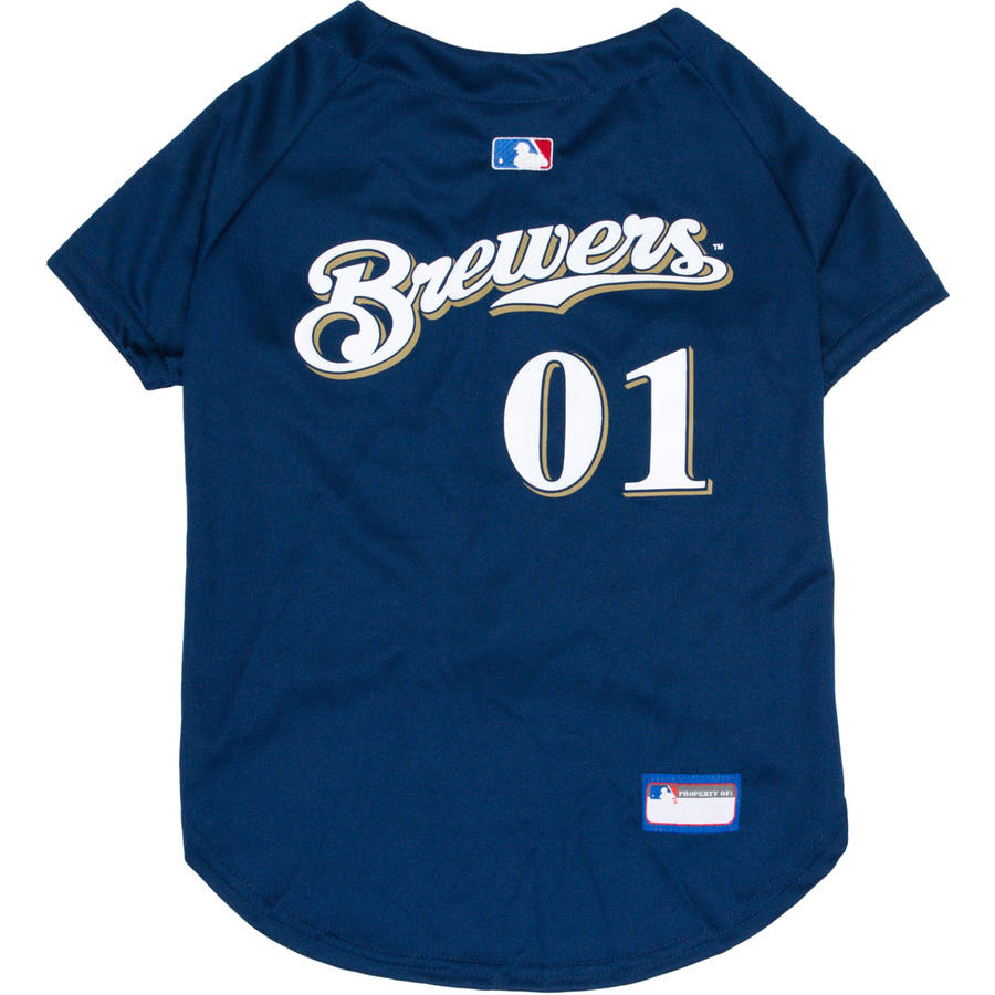 Pets First MLB Milwaukee Brewers Dog Jersey, XX Large