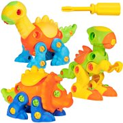 Best Choice Products Kids 106-Piece Set Of 3 Dinosaur Vehicle Take-Apart Puzzle STEM Toy Playset w  Tools by