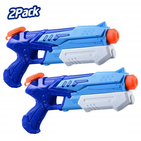 Water Blaster Squirt Guns Toys,2 Pack High Capacity Water Outdoor Fighting Toy in Summer Swimming Pool and Beach Party for Kids Adults Boys and Girls Illinois Fighting Illini Pool