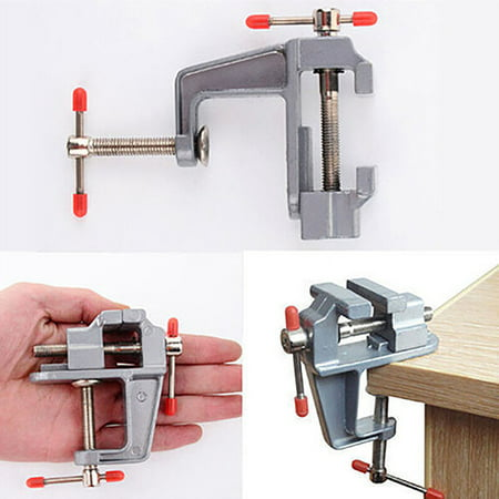 OkrayDirect Aluminum Table Bench Top Vise Vice Universal Swivel Clamp-On 360 Degree Rotating (Aluminum Bench Vise)