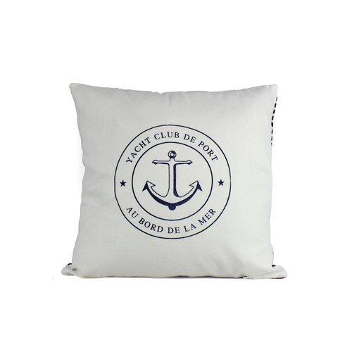 Handcrafted Nautical Decor Yacht Club Anchor Decorative Throw Pillow by Handcrafted Model Ships
