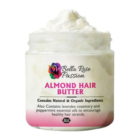 Shea Butter Sweet Almond - Almond Hair Shea Butter 8oz.