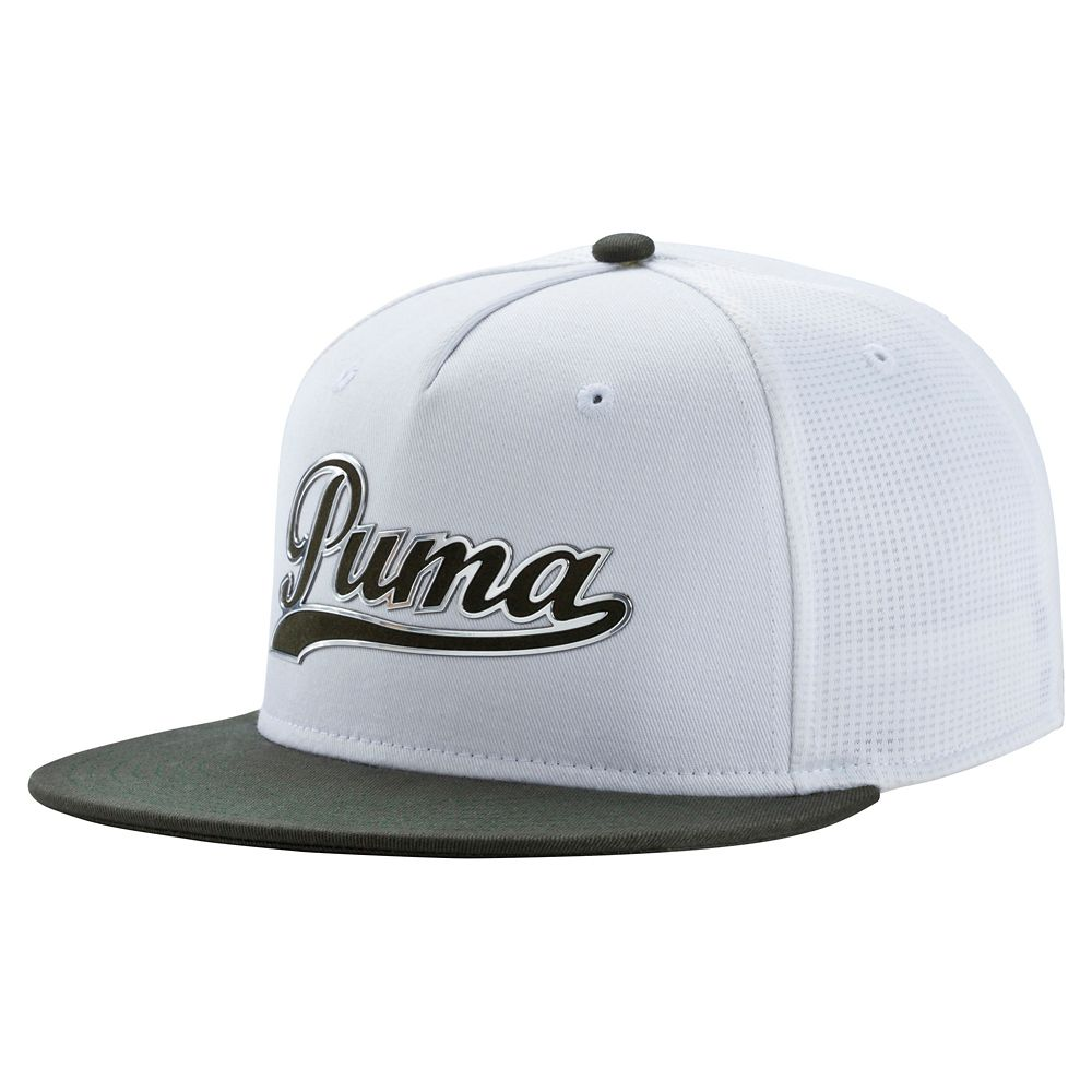 New PUMA Golf Script Snapback Cap FLAT BILL SIDE MESH PANELS - Pick Hat -  Walmart.com fa901da35f4