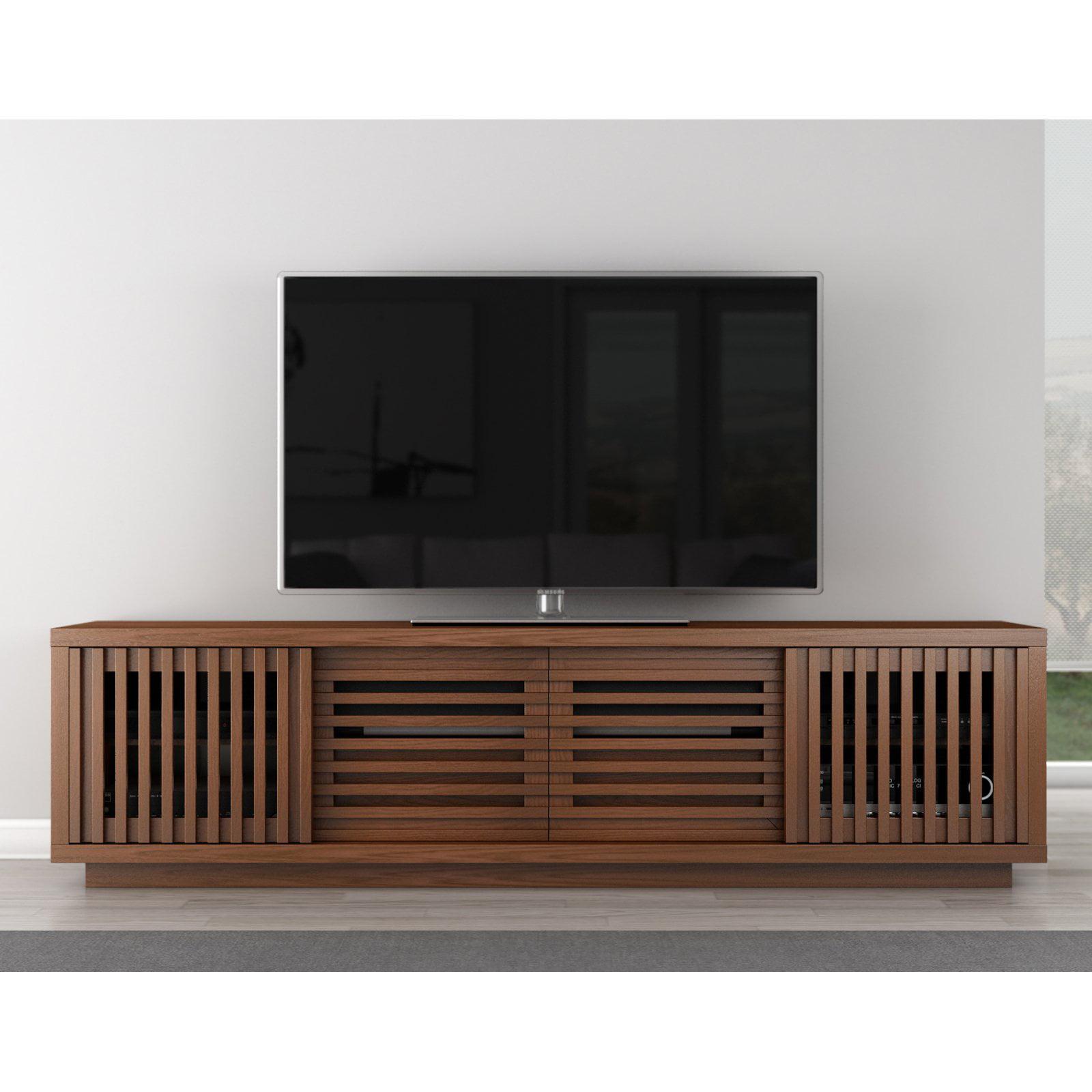 Attractive Contemporary Rustic TV Stand Media Console   Walmart.com