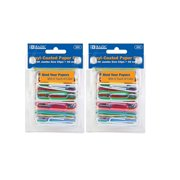 Jumbo Color Paper Clips, 50 mm, Assorted, 100 Per Pack, 2 Pack (200 clips), Assorted colors. By Bazic