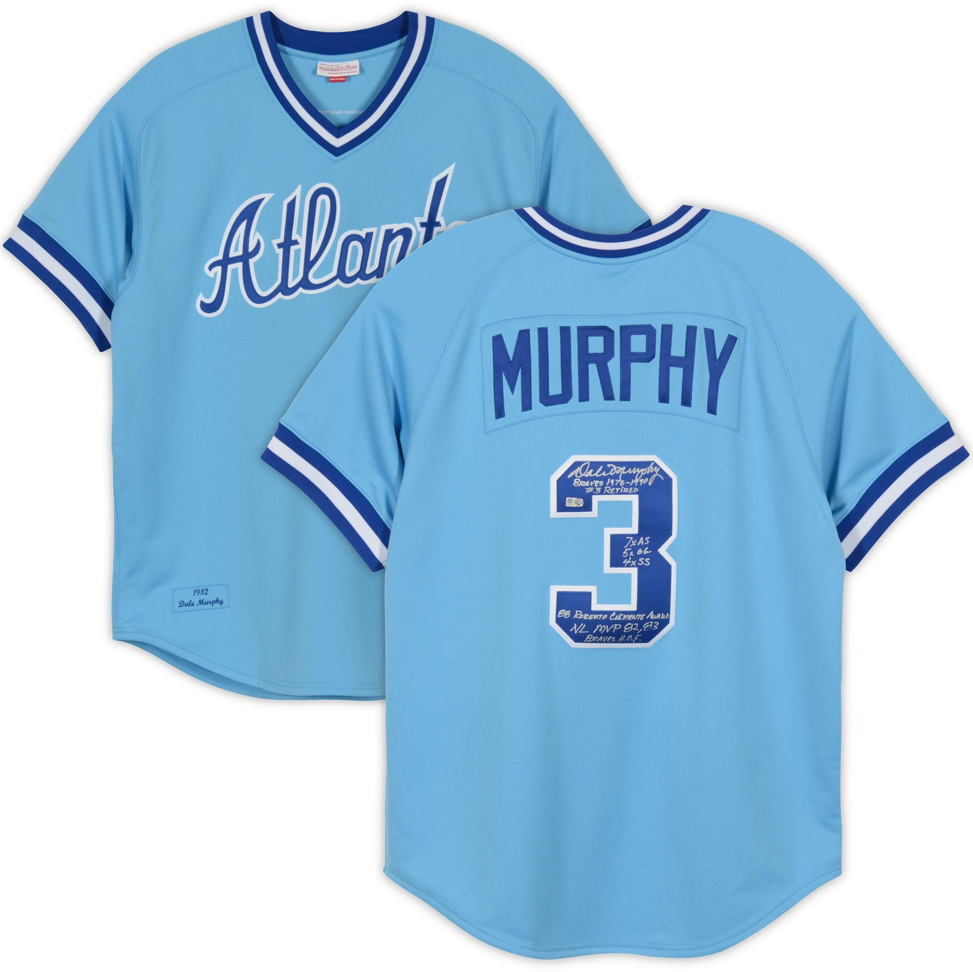 Dale Murphy Atlanta Braves Autographed Mitchell and Ness Powder Blue Authentic Jersey with Multiple Inscriptions - #3 Limited Edition of 12 - Fanatics Authentic Certified