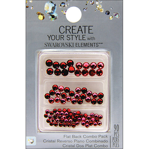 EK Success Create Your Style Siam/ Light SiamFlat Back Crystals