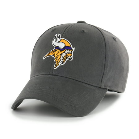 NFL Minnesota Vikings Basic Adjustable Cap/Hat by Fan Favorite - Vikings Hat With Horns