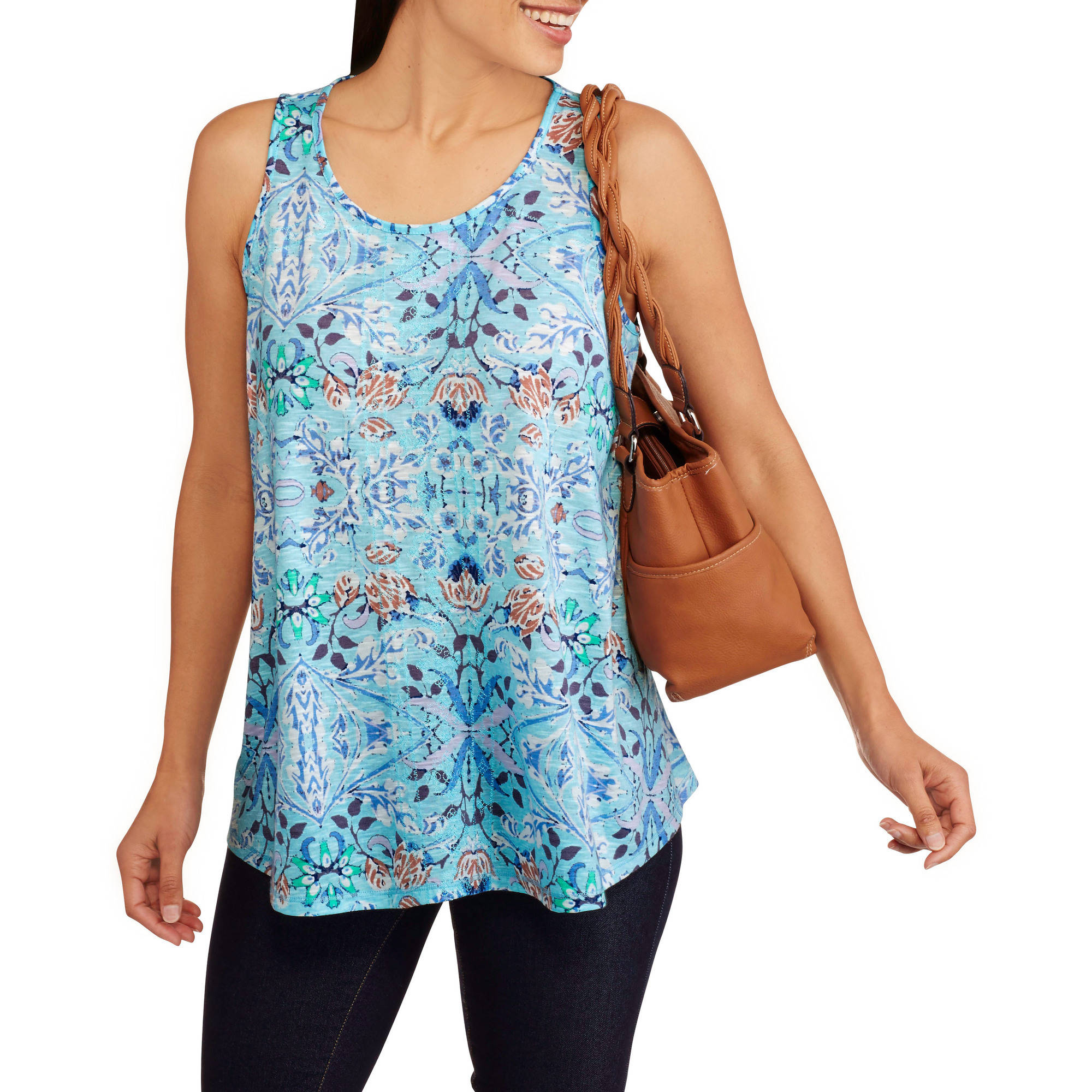 California Happenings Women's Printed Relaxed Fit Tank Top