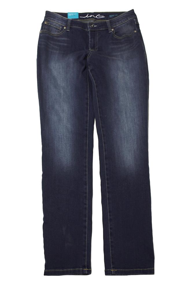 Inc International Concepts Blue Curvy-Fit Skinny Jeans 4
