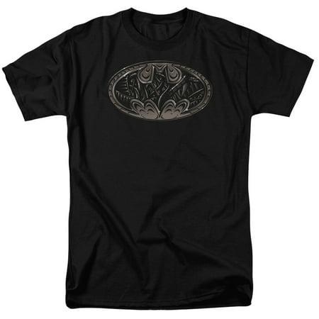 Batman Bio Mech Bat Shield Officially Licensed Adult T Shirt - Batman T Shirts