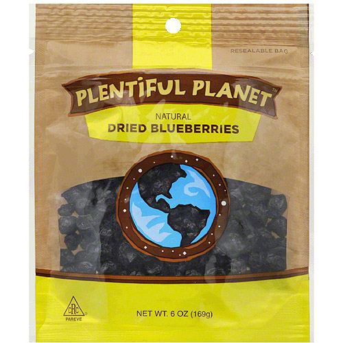 Plentiful Planet Dried Blueberries, 6 oz, (Pack of 6) by