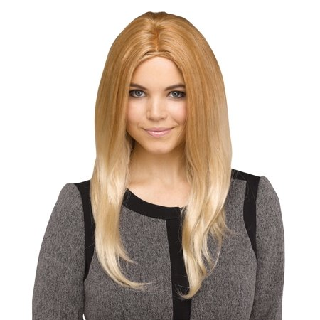 Ivanka Trump Wig Costume Blonde First Daughter Middle Part Straight Hair Long (Blonde Hair Costumes)