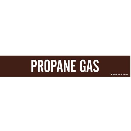 Pipe Marker,Propane Gas,Br,8 In or Lrger BRADY 7400-1HV