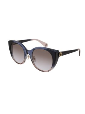 0436124e8e0 Product Image Gucci GG0369S 004 Sunglasses Blue Peach Gradient Frame Brown  Gradient Lens 54mm
