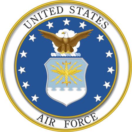 3.8 Inch U.S. Air Force EMBLEM DECAL