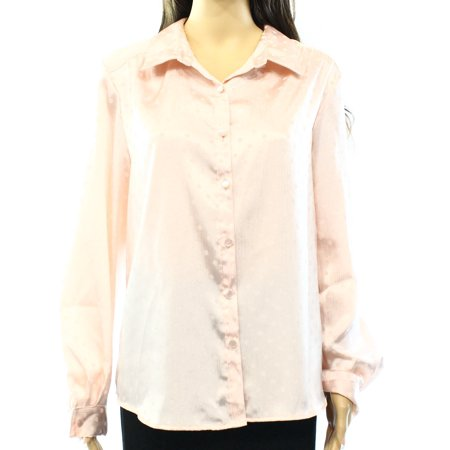 Elementz New Pink Women 39 S Size Xl Polka Dot Long Sleeve