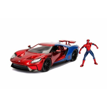 2017 Ford GT with Spider-Man figure, Spider-Man - Jada 99725 - 1/24 Scale Diecast Model Toy