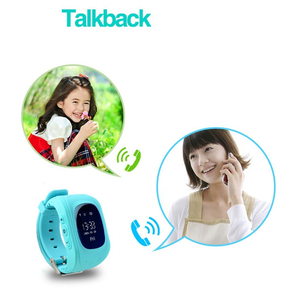 LEMFO Q50 Pedometer GPS Tracker Watch Anti-lost Kid Safe Smart Watch Location Finder Monitor Baby Wristwatch