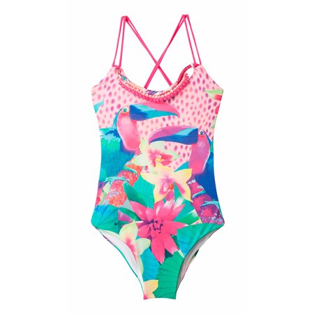 8e3644020e2 OFFCORSS - OFFCORSS Big Girls Cute Colorful One Piece Bathing Suit |  Vestido de Baño Niñas - Walmart.com