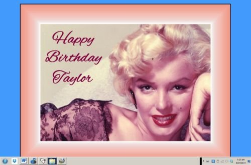Edible Birthday Cake Topper OR Cupcake Topper Marilyn Monroe Decor