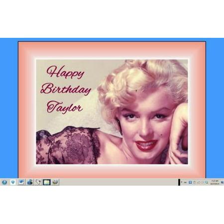 Marilyn Monroe edible cake image birthday decoration cake topper