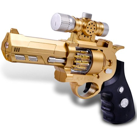 Children Electric Toy Gun Simulation Plastic Pistol Projection Voice Vibrating Gun, Random Color Delivery - Kids Toy Guns