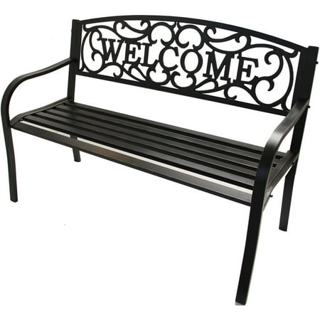 Excellent Better Homes Gardens Welcome Outdoor Bench Walmart Com Evergreenethics Interior Chair Design Evergreenethicsorg