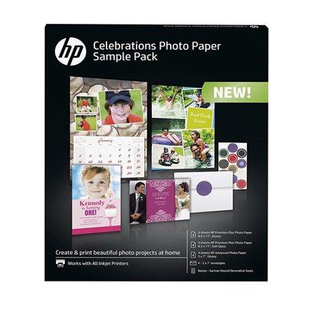 - HP Celebration Photo Paper Sample Pack K0A21A Photo Paper Sample Pack