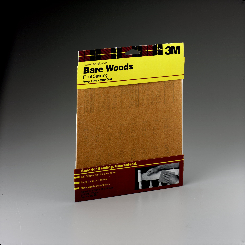 3M Garnet Sandpaper, 9 in. x 11 in., 150 Fine Grit, 5 Pack by 3M COMPANY