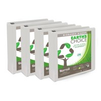 """Samsill Earth's Choice Biobased 1.5"""" Round Ring View Binders, White, 4 Pack"""