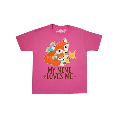 Meme Loves Me Gift Fox Youth T-Shirt