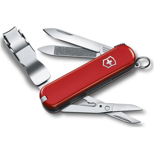 "Victorinox Swiss Army 65mm/2.5"" Nail Clip 580 Pocket Tool, Red"