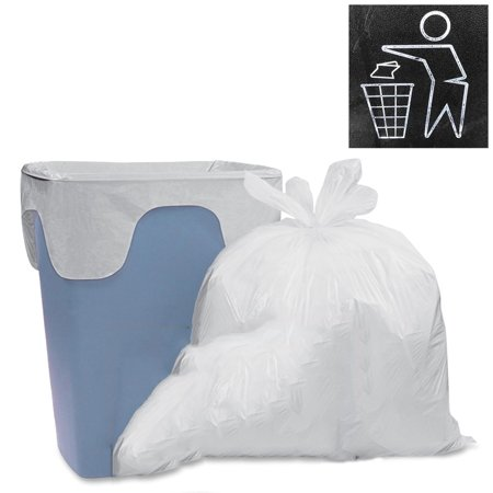 130ct Trash Bags Wastebasket Liners Cordless White Roll Garbage 8 Gallon Kitchen