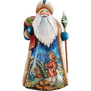 """G. Debrekht Carved Wood and Hand-Painted Star of Hope Santa, 11"""""""