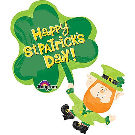 Happy St. Patrick's Day Shaped Balloon - Patrick Balloon