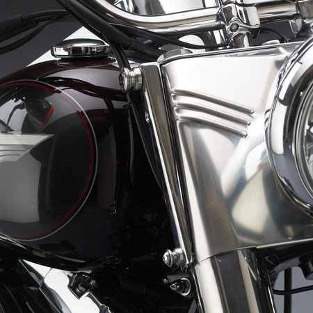 NATIONAL CYCLE SWITCHBLADE WINDSHIELD MOUNT KIT (CHROME) (Switchblade Windshield Mounting)
